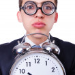 Stock Photo: Businessman with clock