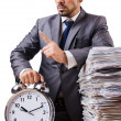 Man not meeting his deadlines — Stock Photo