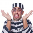 Badly bruised prisoner with handcuffs — Stock Photo #32103197