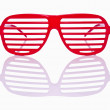 Red striped sunglasses — Stock Photo