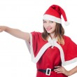 Young woman in red santa costume — Stock Photo #32105779