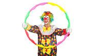 клоун с обруч — Стоковое фото