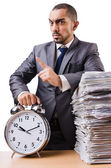 Man not meeting his deadlines — Foto de Stock