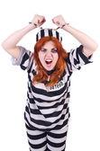 заключенный в полосатой форме — Стоковое фото