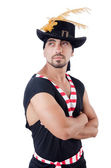 Pirate in hat — Stock Photo