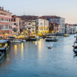 VENICE, ITALY - JUNE 30: View from Rialto bridge on June 30, 201 — Stock Photo #32504711