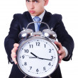 Businessman with clock — Lizenzfreies Foto