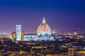 Nice view of florence during evening hours — Stock Photo