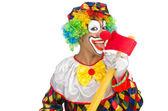 клоун с топором — Стоковое фото