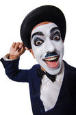 Funny man with face paint — Stock Photo