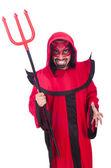穿着红色的服装人恶魔 — 图库照片