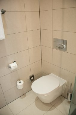 Modern toilet in the bathroom