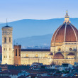 Florence cityscape in dusk hours — Stock Photo