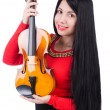 Young girl with violin — Stock Photo #32803625