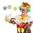 Clown with lollipops — Stock Photo