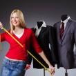 Young woman tailor — Stockfoto