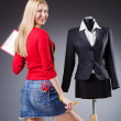 Young woman tailor — Stock Photo