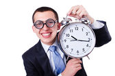 Businessman with clock — Stock fotografie