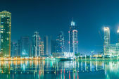 Dubai building at night illumination — Stock Photo