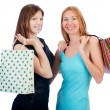 Постер, плакат: Girls after good shopping