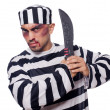 Prisoner with knife — Stock Photo
