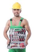 Człowiek z narzędzi — Zdjęcie stockowe