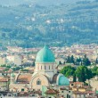 Stock Photo: Jewish Synagogue of Florence from top