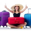 Young girl travelling — Stock Photo