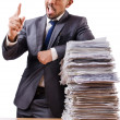 Man with too much work to do — Stockfoto