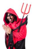 Man devil in red costume — 图库照片