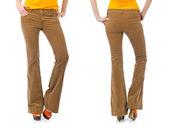 裤子上分离的模型 — 图库照片