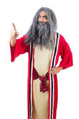 Wizard in costume isolated on the white — Stockfoto