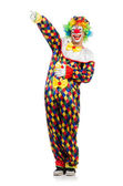 Funny clown isolated on white — Stock Photo