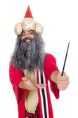 Wizard in costume isolated on the white — Foto de Stock