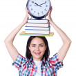 Student failing to meet deadlines for her studies — Foto Stock
