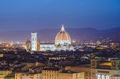 尼斯认为,佛罗伦萨的夜营业时间内 — 图库照片