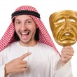 Arab in hypocrisy concept on white — Stockfoto