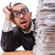 Man with too much work to do — Stock Photo