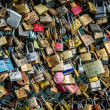 Stock Photo: Locks of love at Paris bridge