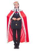 Král podnikatel izolovaných na bílém — Stock fotografie