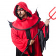 Stock Photo: Man devil in red costume