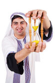 Arab man thinking about passage of time — Stock Photo