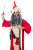 Wizard in costume isolated on the white — Stock Photo