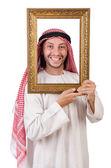 阿拉伯与白色衬底上的画框 — 图库照片