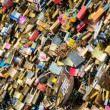 Locks of love at Paris bridge — Stock Photo