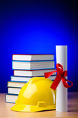 Industrial education with yellow hard hat — Stock Photo