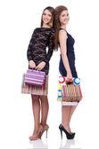 Bästa vänner efter shopping — Stockfoto