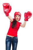 Kvinna boxare — Stockfoto