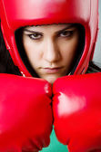 Woman boxer — Foto de Stock