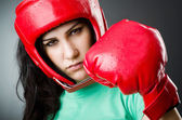 Woman boxer — Foto Stock